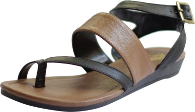Kanabis Women Brown, Black Flats