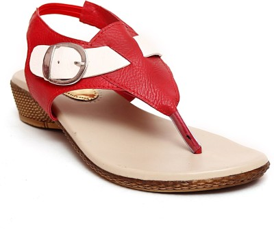 Zohra Collection Women Red Wedges