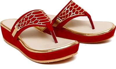 Royal Footwear Women Red Wedges