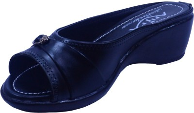 Anira Fashion Women Black Wedges