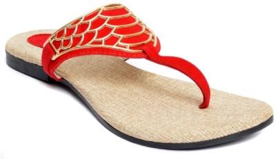 Indirang Women Red Flats