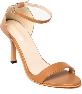 Adorn Women Tan Heels