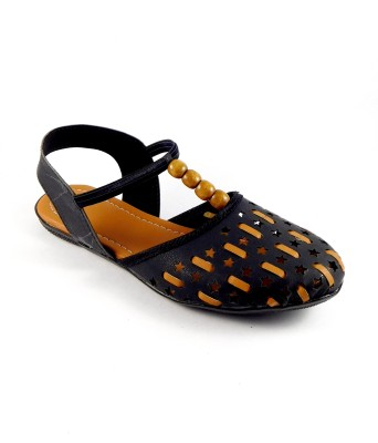 INDIANO Women Black Flats