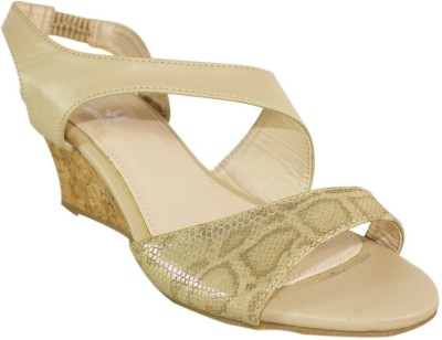 Heels & Handles Women Beige Wedges
