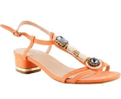 Totes Gallore Women Orange Heels