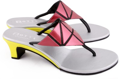Zotti May Women Pink, Yellow Heels