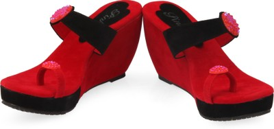 Pink Women G-6Red Women Red Wedges