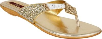 Authentic Vogue Women Gold Flats
