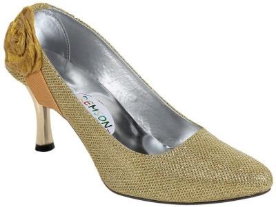 Stylish Step Women Gold Heels