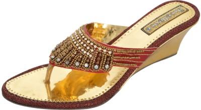 Axcellence Women Gold Wedges