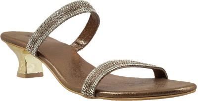 Mochi Women Gold Heels