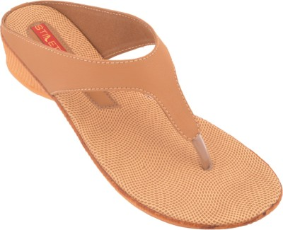 Stiletto Women Tan Flats