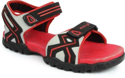 Mmojah Men Grey, Red Sandals