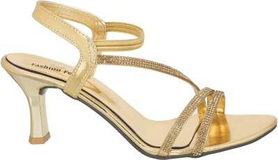 Fashion Feet Women Gold Heels