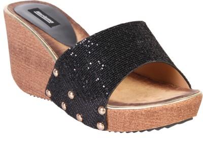 karizma shoes Women Black Wedges