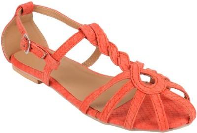 Stepee Women Orange Flats