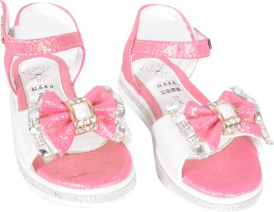 Junior Selection Girls Pink, White Sports Sandals