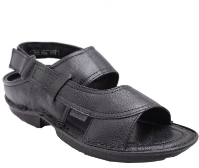Samadhaan Men Black Sandals