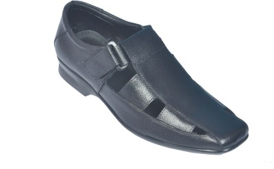 John Hupper Men Black Sandals
