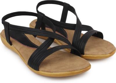 Ortan Girls Black Flats