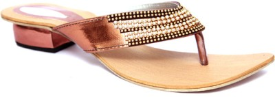 Laila Collections LATE005050BEW Women Gold Flats