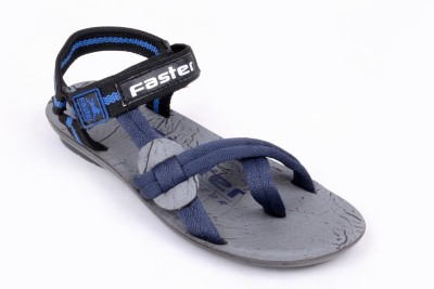 Faster Men Black, Blue Sandals