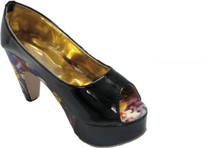 BLINKS Women, Girls Black, Blue Heels