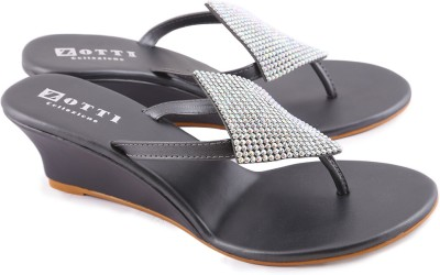 Zotti Sparkle Women Black Wedges