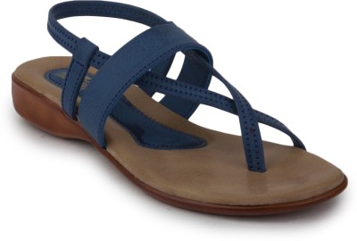 Metrogue Womens Stylish Women Blue, Brown Flats