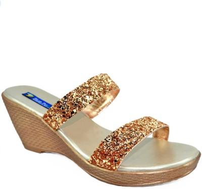 BLUE PARROT Women Gold Wedges