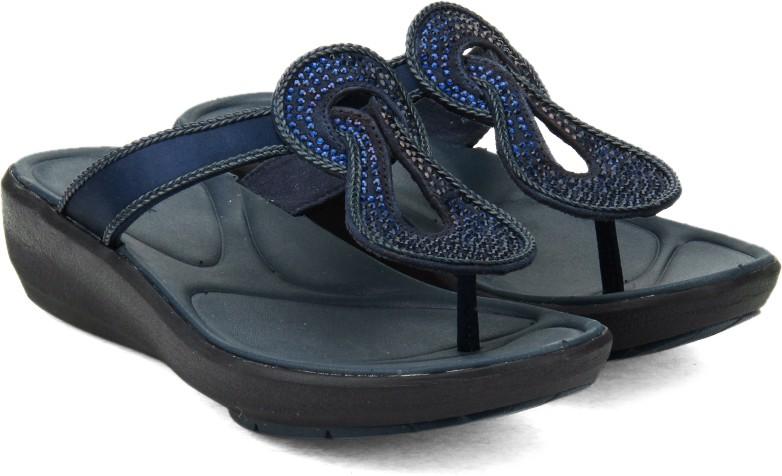 8e81c1d3559d9e Clarks Wave Glitz Navy Synthetic Women Sports Sandals