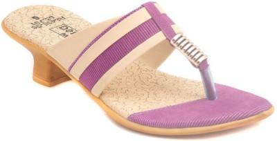 Dolphin Miles Designer Women Purple Heels