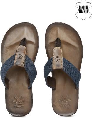 WROGN Men Navy, Brown Sports Sandals