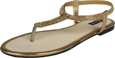 Style Her Women Gold Flats