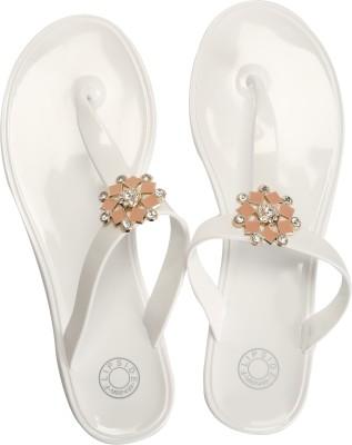 Flipside Elegant White Women White Flats