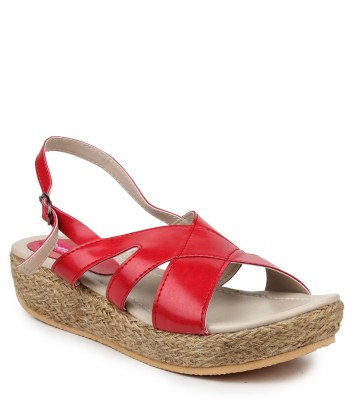 Butterfly Women Red Wedges
