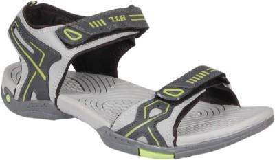Hitcolus Grey & Green Floater Men Grey, Green Sandals