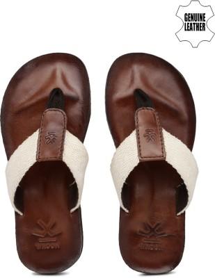WROGN Men White, Brown Sports Sandals