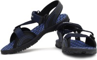 Reebok Men Black, Royal, Rivet Grey, Silver Sandals