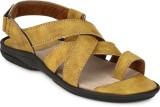 Azzaro Black Men Yellow Sandals