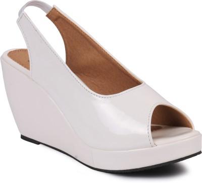 Bellafoz Women White Wedges