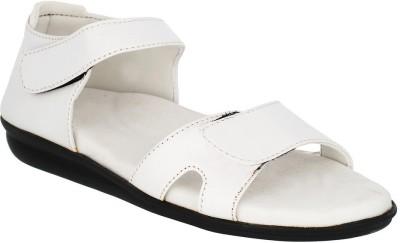 Dia One Diabetic Footwear Women White Flats