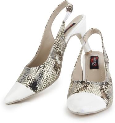 Naisha Women White Heels