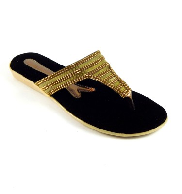 INDIANO Women Gold Flats