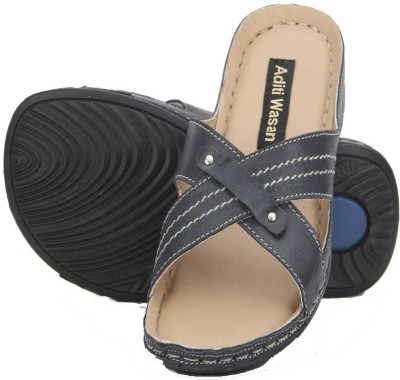 Aditi Wasan Genuine Leather Blue Women Blue Flats