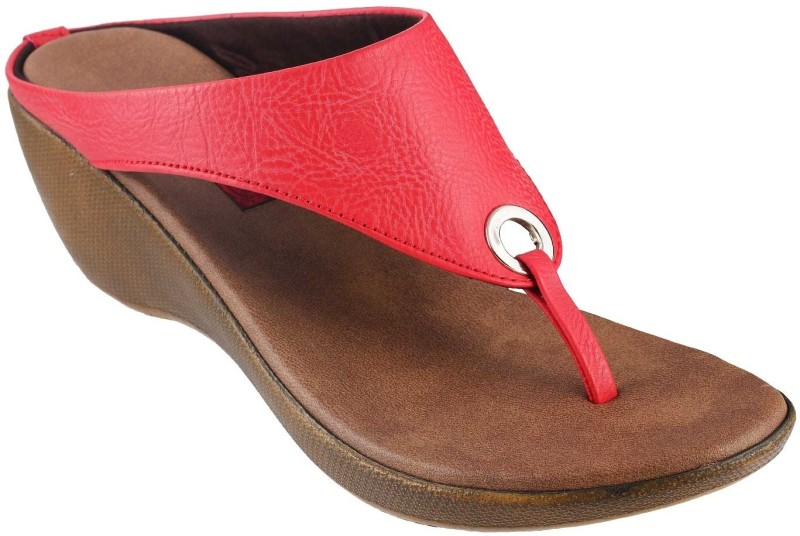 Mochi Casual Women Red Wedges