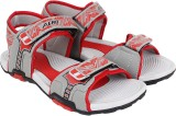 Aero Men BLK::RED::GRY Sandals