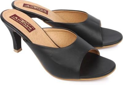 Ananya Women Black Heels