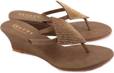 Zotti Sparkle Women Beige Wedges