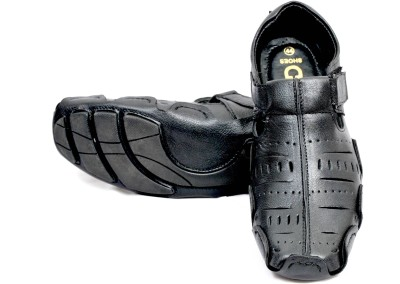 Mori Driving Men Black Sandals